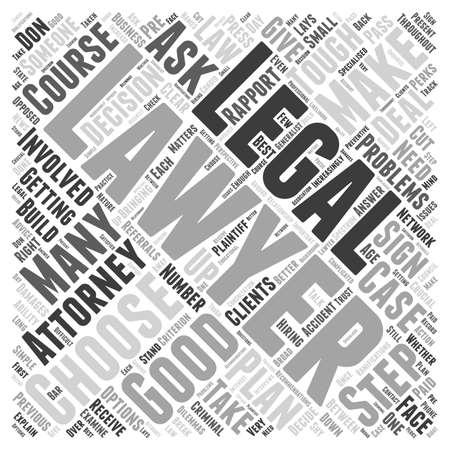 How to choose an attorney Word Cloud Concept