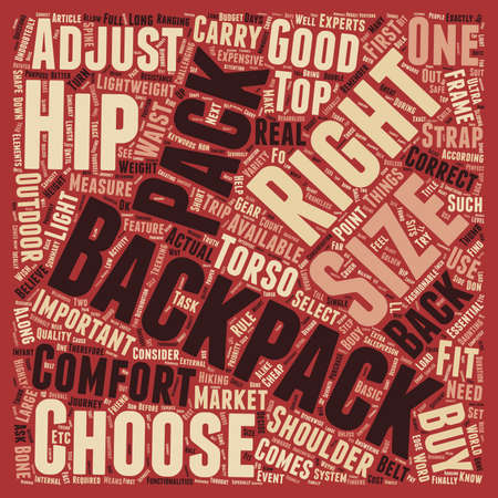 How To Choose A Right Backpack text background wordcloud concept