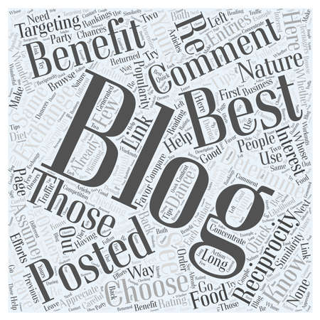how to choose blogs to comment on to promote your blog Word Cloud Concept Ilustrace