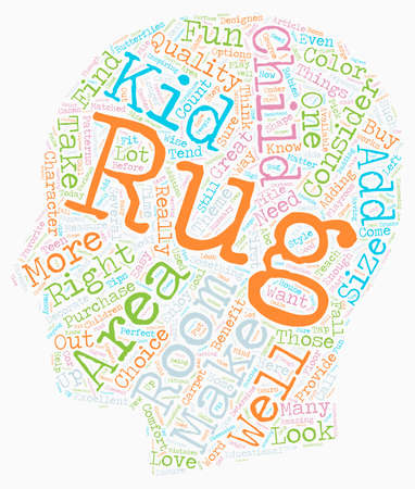 How To Buy Kid s Rugs text background wordcloud concept Illustration