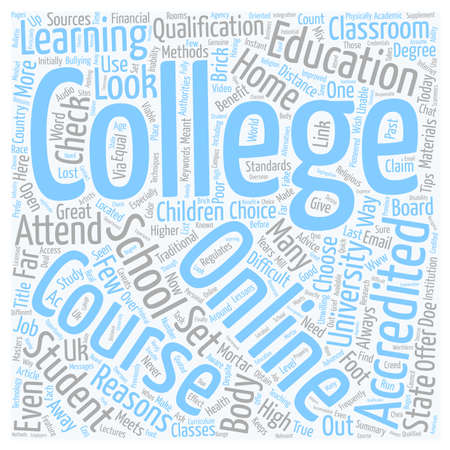 How To Choose An Online College Course text background wordcloud concept