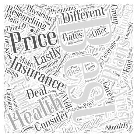 How to Choose the Best Health Insurance for You Word Cloud Concept Ilustrace