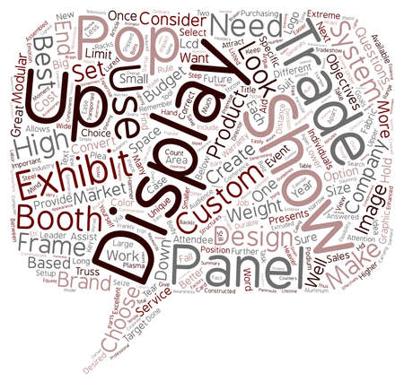cloud based: How to Choose the Correct Trade Show Display text background wordcloud concept Illustration