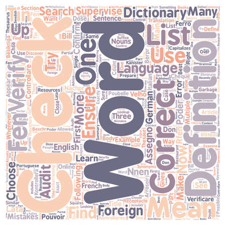 How to Choose Exactly the RIGHT Foreign Word text background wordcloud concept Ilustrace