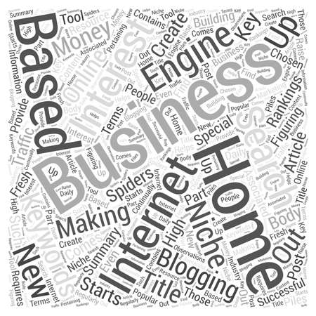 figuring: How To Create a Home Based Internet Business Word Cloud Concept