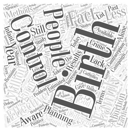 births: effectiveness of birth control Word Cloud Concept