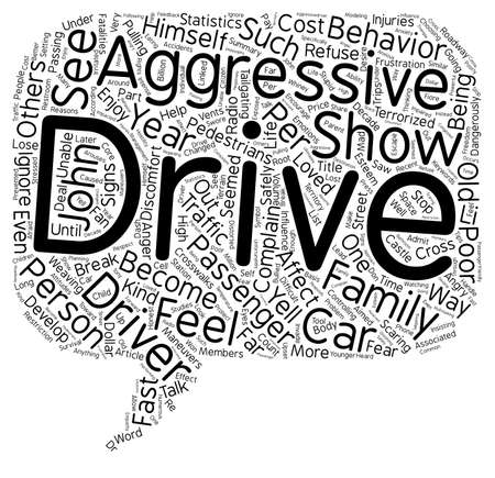 terrorized: How To Deal With Difficult People Part 4 The Aggressive Driver When He Is A Loved One text background wordcloud concept Stock Photo
