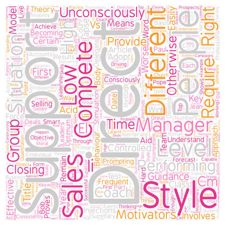 consciously: How To Develop A First Class Sales Team text background wordcloud concept Stock Photo