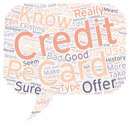 How To Know If A Credit Card Offer Is For You text in wordcloud concept Ilustração