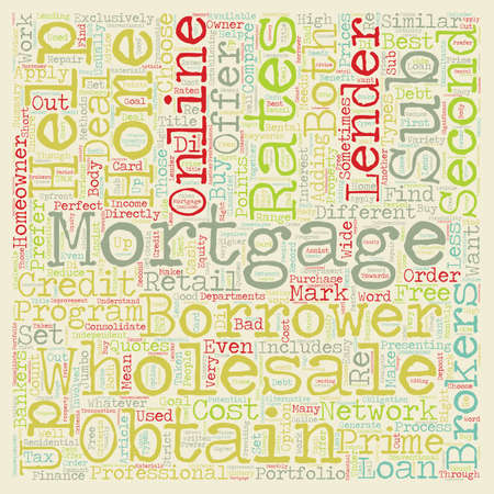 How To Find Wholesale Mortgage Lenders text background wordcloud concept