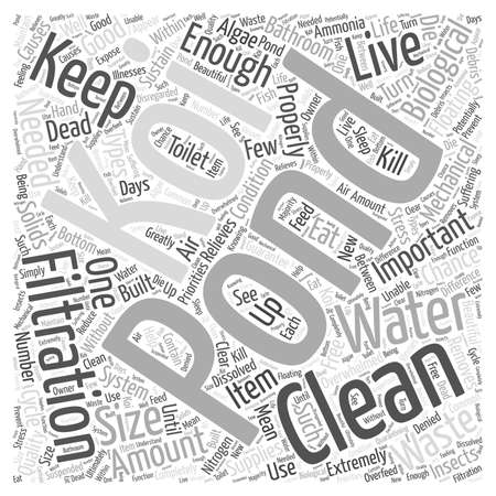solids: How to Keep Your Pond In Good Conditionwps Word Cloud Concept Illustration