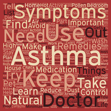 How to Live With Your Asthma text background wordcloud concept
