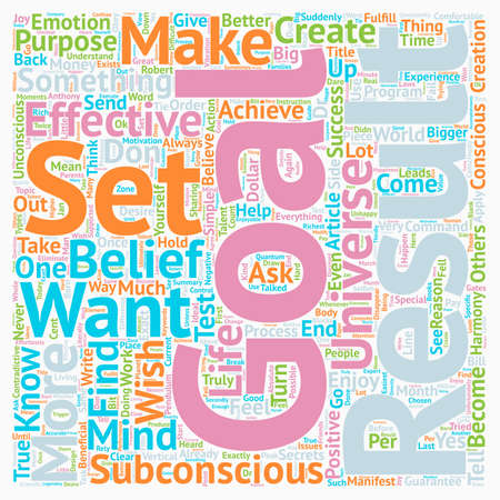 How to Set Effective Goals text background wordcloud concept