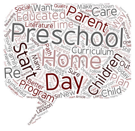 deeply: How To Start Your Own In home Preschool text background wordcloud concept Illustration