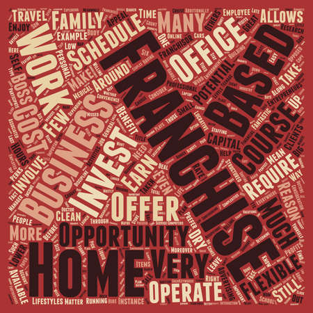 How Will You Know If A Home based Franchise Opportunity Is For You text background wordcloud concept