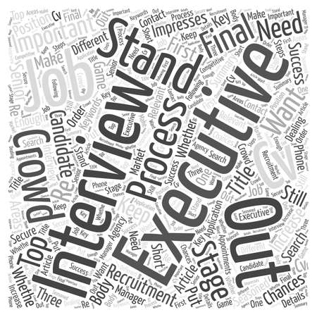 Jobs interview word cloud concept