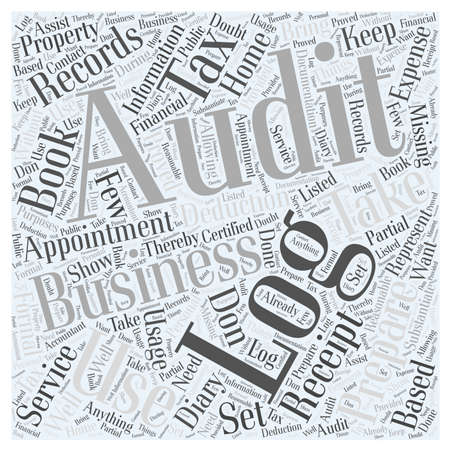 appointment book: How to Prepare for a Tax Audit Word Cloud Concept Illustration