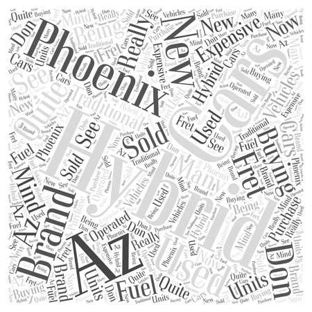 fret: hybrid cars phoenix az Word Cloud Concept