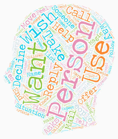 How to Say No text background wordcloud concept Illustration