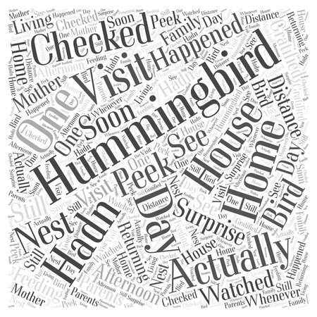 gratified: hummingbird house Word Cloud Concept