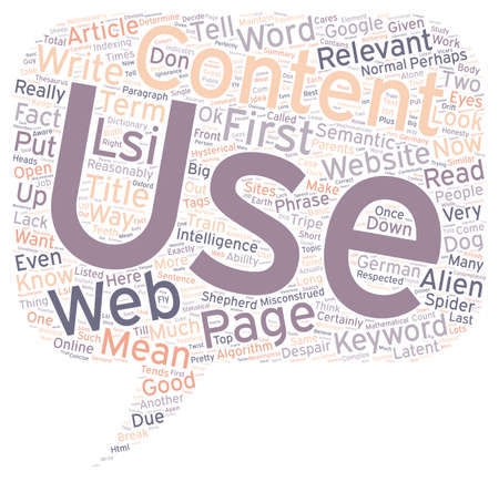 How To Use Relevance In Your Web Content text background wordcloud concept Çizim