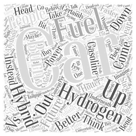tailpipe: Hydrogen Cars vs Hybrid Cars Word Cloud Concept
