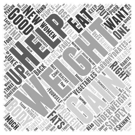 How To Put Weight Gain On Women Word Cloud Concept Vettoriali