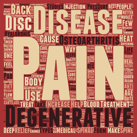 degenerative: How To Treat Degenerative Disc Disease text background wordcloud concept Illustration