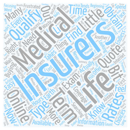 How To Obtain A No Medical Life Insurance Quote text background wordcloud concept 向量圖像