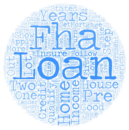 qualify: How To Pre Qualify For An FHA Home Loan text background wordcloud concept