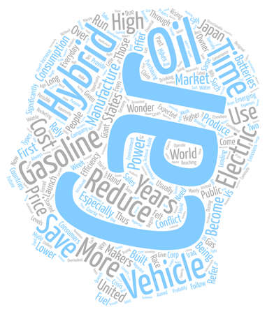 hybrid vehicles2 text background wordcloud concept Illustration