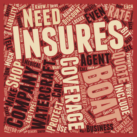How to Shop For Boat Insurance text background wordcloud concept