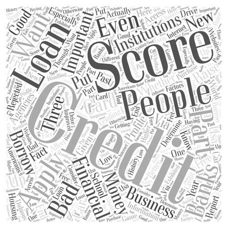 financial institutions: How to Raise Your Credit Score Word Cloud Concept Illustration