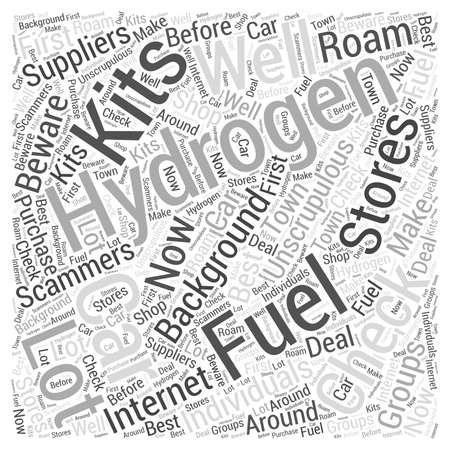 Hydrogen Fuel Car Kits Word Cloud Concept Illustration