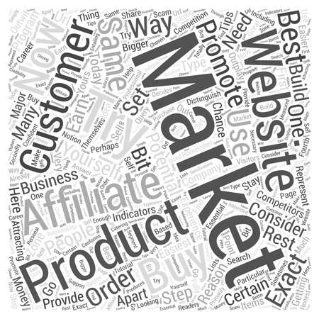 affiliates: How To Set Yourself Apart From Other Affiliates Word Cloud Concept