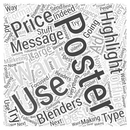 best ad: How to Use the Message Best Price on Blenders on Posters Word Cloud Concept