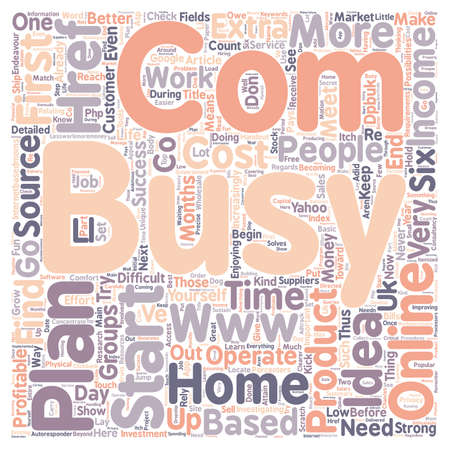 How To Start A Profitable Home Based Online Business text background wordcloud concept