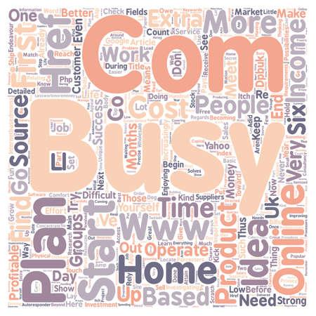 Wie man ein profitables Home Based Online Business Text Hintergrund Wordcloud Konzept zu starten Standard-Bild - 73633933