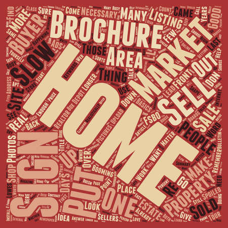 How to Sell Your Home in a Slow Market text background wordcloud concept  イラスト・ベクター素材