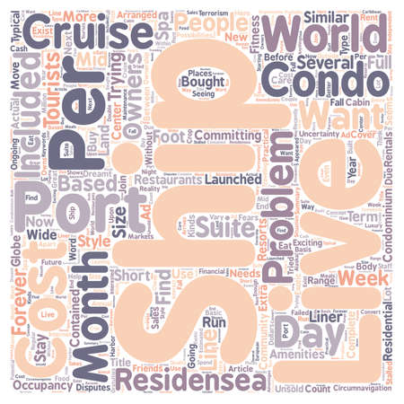 Cruise Travel text word cloud concept