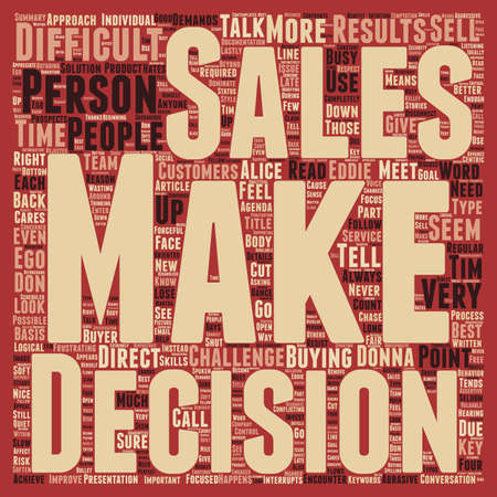 anyone: Sell make decision text background word cloud concept