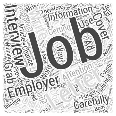 attention grabbing: Job Interview Letter Word Cloud Concept