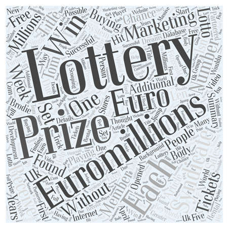 millions: How to win Euro Millions lottery prizes every week without buying tickets Word Cloud Concept