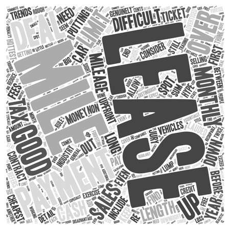 hottest: How to spot a good car lease Word Cloud Concept