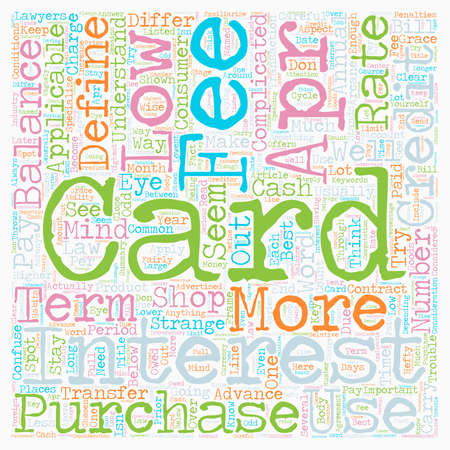 How To Shop For A Low Apr Credit Card text background wordcloud concept Illustration