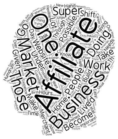 Super Affiliate text background wordcloud concept Иллюстрация