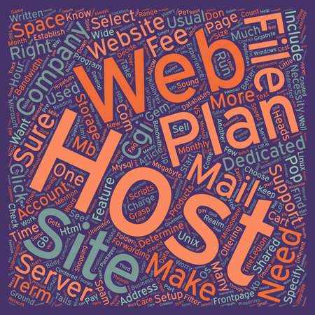 host: How To Select A Web Site Host text background wordcloud concept