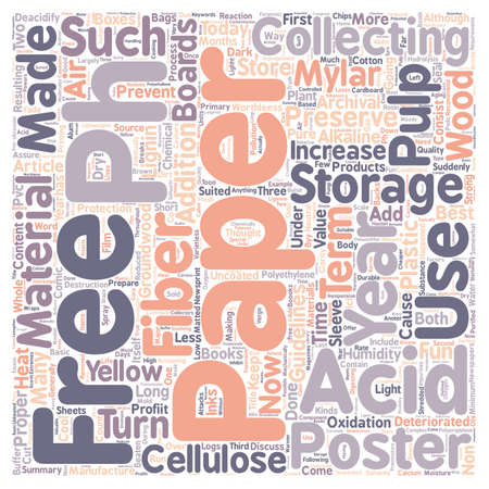 Preserving paper collectibles text background word cloud concept