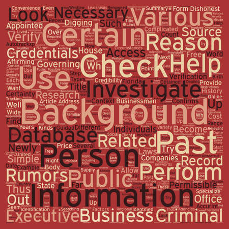 How To Perform A Background Check text background wordcloud concept