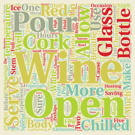 Serve Wine text background wordcloud concept